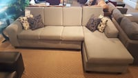 Modern grey Canadian made sectional on clearance