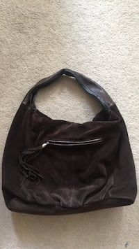 Snakeskin handle Suede/leather purse