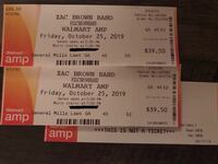 2 Zac Brown tickets for 10-25 Edmond