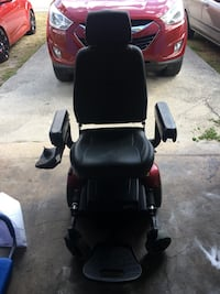 black and red mobility wheelchair