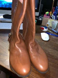 WOMAN BROWN ISAAC MIZRAHI  BOOTS 11 W LEATHER Levittown, 11756