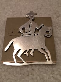 NEW man / horse Sterling PIN, pd $64 Wilkes Barre, 18705