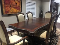High end Dining Table and Chairs with extension Bradford West Gwillimbury