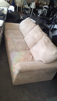 brown fabric 3-seat sofa Vancouver, V5R 4N1