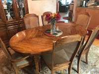 Dining room table w/6 chairs $150, Hutch $100, server $50=$300 (pickup only) Kenosha, 53142