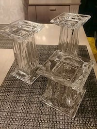 Partylite glass candle holders mint condition Pitt Meadows, V3Y 1N2