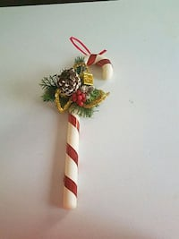 Hanging Candy cane large ornament