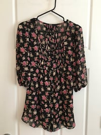 Guess | sheer floral top Burnaby