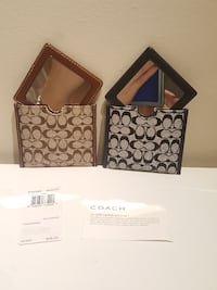 Set of 2 coach mirror with case