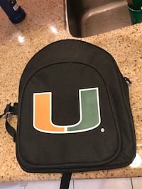 Miami hurricanes backpack