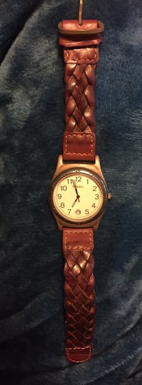 Fossil Watch Brown Braided Leather Band Los Angeles, 90036