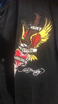 ED HARDY  EAGLE DEATH BEFORE DISHONOR JACKET XXL Baltimore, 21201