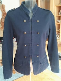 Damen Jacke im Military-Stil Gr42 in Blau von Favourite Basics  Elsfleth