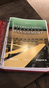 International Financial Management by Brean book Coquitlam, V3E 1E3