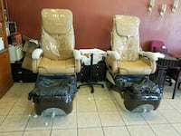 two brown-and-black power chairs West Covina, 91792