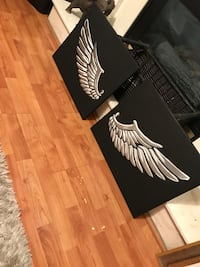 Black and white silver wings