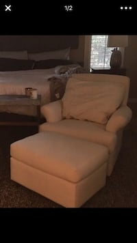 brown fabric sofa chair with ottoman Fort Myers