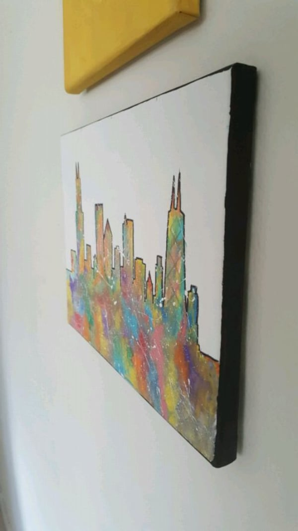 Painting Chicago skyline 1