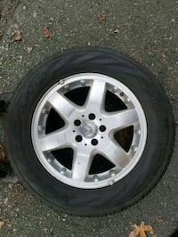 gray 5-spoke Mercedes Benz wheel and tire Vancouver, V5K 4T4