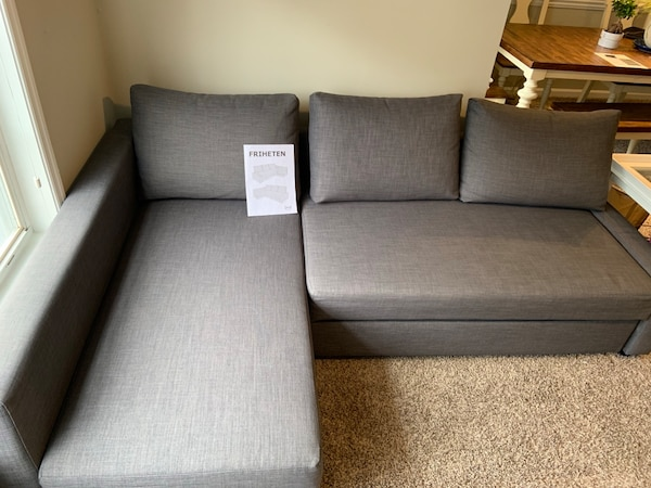 Used Ikea Friheten Dark Grey Sleeper Sofa With Storage For In Brookhaven Letgo