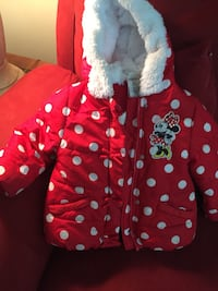 toddler's red and white polka dot hoodie Calgary, T2K 3W6