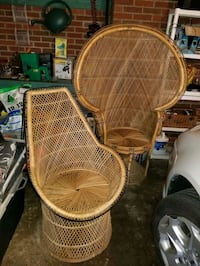 Vintage rattan chairs Dearborn