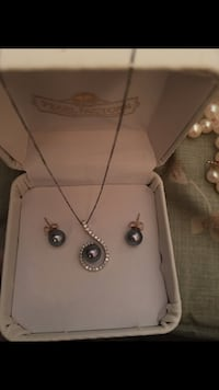 Pearl and Diamond Necklace and Earrings  Portland, 97213