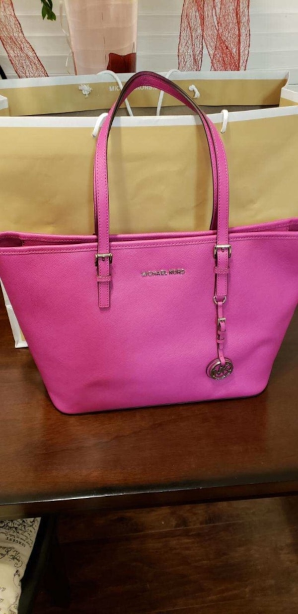 e372d1cd8133 Used pink Michael Kors leather tote bag for sale in South Gate - letgo