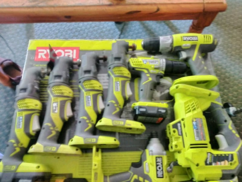 Lot of Ryobi power tools most by all  cc87bfe1-bb2c-45af-8416-3a38c0d3c99b
