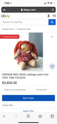 Cabbage Patch Gilbert's Ramona With Birth Certificate Vintage Laurel, 20707