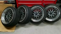 18x9 et25 5x100 Alzor wheels Virginia Beach, 23452