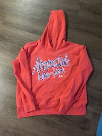 red and white Aeropostale pullover hoodie