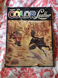 1961 How to Color Leather Leathercraft Book  Sparrow Bush