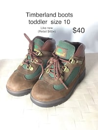 Timberland boots - toddler size 10.   (Very Excellent Condition)