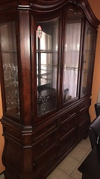 brown wooden display cabinet with glass Ewing, 08638