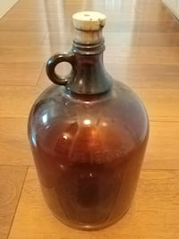 Brown glass jug each 8 dollars, think of the Pinterest possibilities!