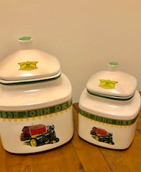 2 Large John Deer Canisters Ceramic Randallstown, 21133