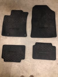 Black All Weather Floor Mat for Hyundai Elantra Vancouver