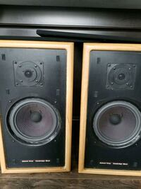 two black-and-gray speakers Surrey, V3R 1T3