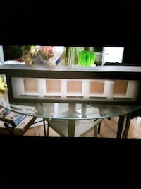 glass picture box with plate shelf