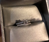 3/4 Carat Princess Cut Wedding Set Silver Spring, 20901