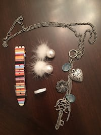 All for $20-Necklace, swatch watch band, earrings and sterling ring Vaughan, L4H 2G8