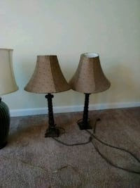 Pair of matching candlestick lamps Conyngham