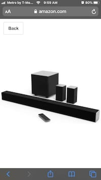 Visio Soundbar subwoofer  Minneapolis, 55417