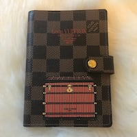 LOUIS VUITTON Authentic LV Limited Edition Agenda PM 6 Ring Organizer Wallet