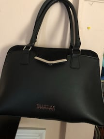 black Reaction leather tote bag