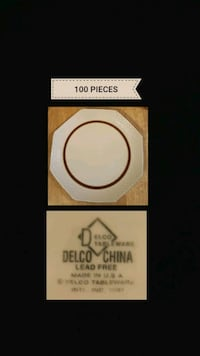 """100 PC DELCO 10"""" Dinner Plate. Made in USA. Queens, 11106"""