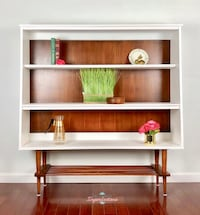 brown wooden 3-layer shelf Hampton, 23664