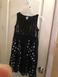 black and white polka dot sleeveless dress Cathedral City, 92234
