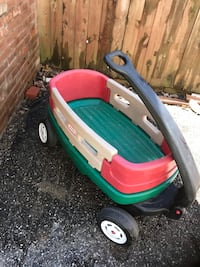 toddler's green and red Little Tikes wagon Waterford, 48329